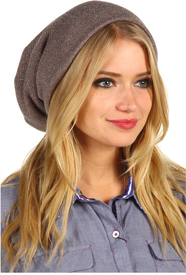 Jane Tran Lurex Slouchy Hat
