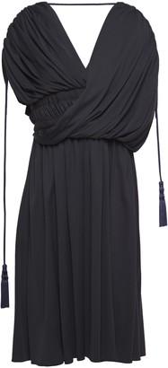 Lanvin Wrap-effect Gathered Jersey Dress