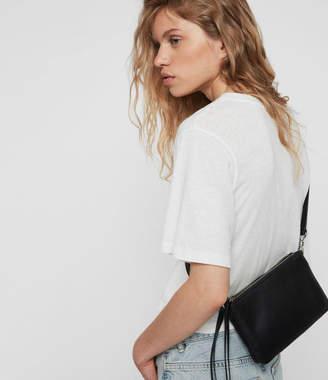 AllSaints Captain Leather Zip Crossbody Bag
