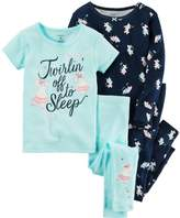 Carter's Toddler Girl Graphic Tees & Print Pants Pajamas Set