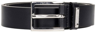 Givenchy Classic Buckle Belts In Black Leather