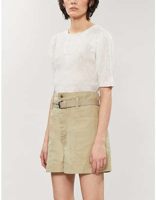 The Kooples Sport Broderie anglaise cotton top