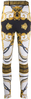 Versace Barocco Rodeo print skinny trousers