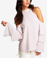 1 STATE 1.STATE Cold-Shoulder Tiered-Sleeve Top