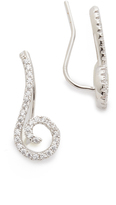 Kenneth Jay Lane Swirl Pave Ear Crawlers
