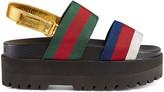 Gucci Web platform sandal
