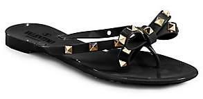 Valentino Women's Garavani Rockstud Bow Jelly Thong Sandals