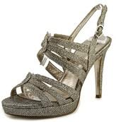 Adrianna Papell Anita Women Open Toe Synthetic Silver Platform Heel.