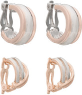 Barcs Clip Earring Giftbox - Two Tone