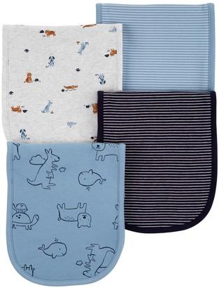 Carter's Baby Boy 4-Pack Animals Burp Cloths