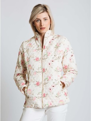 M&Co Jessica Graaf embossed quilt print jacket
