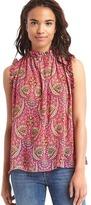 Gap Paisley ruffle blouse