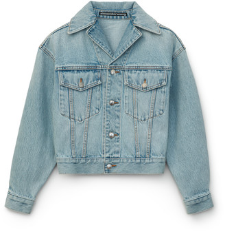 Denim Lapel Collared Jacket