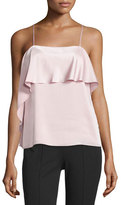 Elizabeth and James Abby Layered Satin Tank, Pink