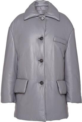 Prada Single-Breasted Leather Jacket