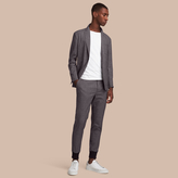 Burberry Prince of Wales Cotton Wool Blend Blazer