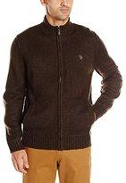 U.S. Polo Assn. Men's Marled Full-Zip Sweater
