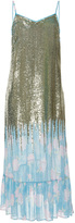 Manoush Sequin Faded Rose Maxi Dress