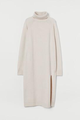 H&M Knit Turtleneck Dress - Brown