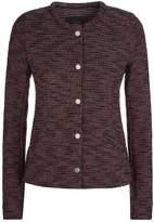 SET Short Knit Jacket, White, DE 38