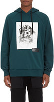 Public School Men's Abstract-Graphic Cotton Hoodie-DARK GREEN