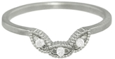 Megan Thorne Ribbed Scallop Guard Ring - White Gold