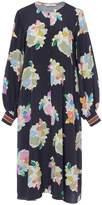 Tibi Camellia on Silk Button Front Dress