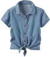 Carter's Chambray Tie-Front Top