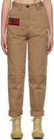Thumbnail for your product : SSENSE WORKS SSENSE Exclusive 88rising Brown Workwear Trousers