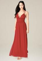 Bebe Smocked Waist Maxi Dress