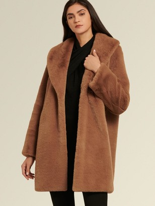 DKNY Faux Fox Coat