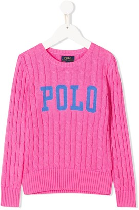 Ralph Lauren Kids Polo cable-knit jumper
