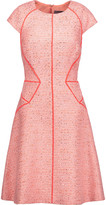 Lela Rose Metallic and neon tweed dress