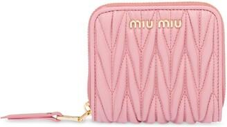 Miu Miu Matelasse Leather Wallet