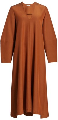Co V-Neck Long Sleeve Maxi Dress