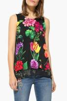 Desigual Floral Layered Top