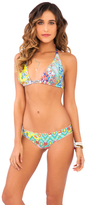 Luli Fama Siren Dance D/DD Cup Triangle Halter In Multicolor (L486073)