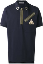 Givenchy zip polo shirt - men - Cotton - S