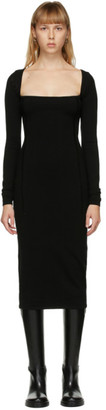 Ann Demeulemeester Black Merino Square Neck Dress