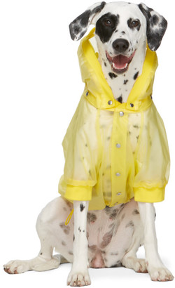 MONCLER GENIUS Yellow Poldo Dog Couture Edition Waterproof Coat