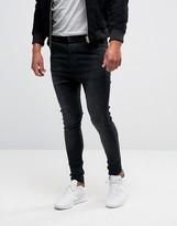 SikSilk Drop Crotch Skinny Jeans