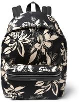 Saint Laurent Floral-Print Canvas Backpack