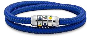 Tateossian Slot Machine Woven Wrap Bracelet