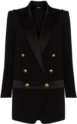 Balmain Peak-Lapel Blazer Dress