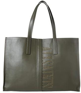 AllSaints Nina Stud East/West Tote (Black) Handbags