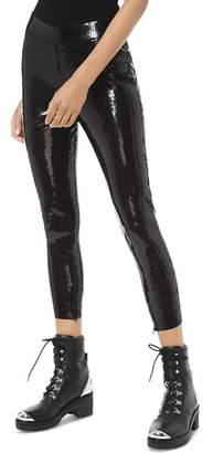 MICHAEL Michael Kors Cropped Sequined Leggings