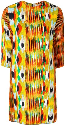 Céline Pre Owned Pre-Owned Abstract Print Shift Dress