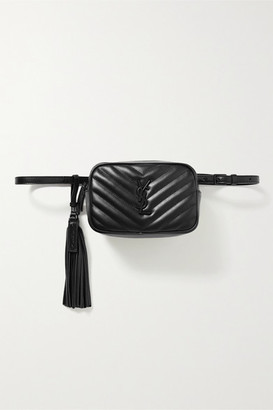 Saint Laurent Lou Quilted Leather Belt Bag - Black