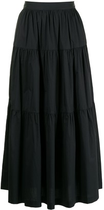 STAUD Sea tiered full skirt