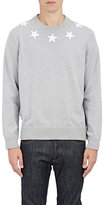 Givenchy Men's Varsity Star-Embroidered Sweater-GREY